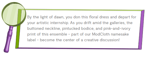Modcloth product description provides example of storytelling in content marketing