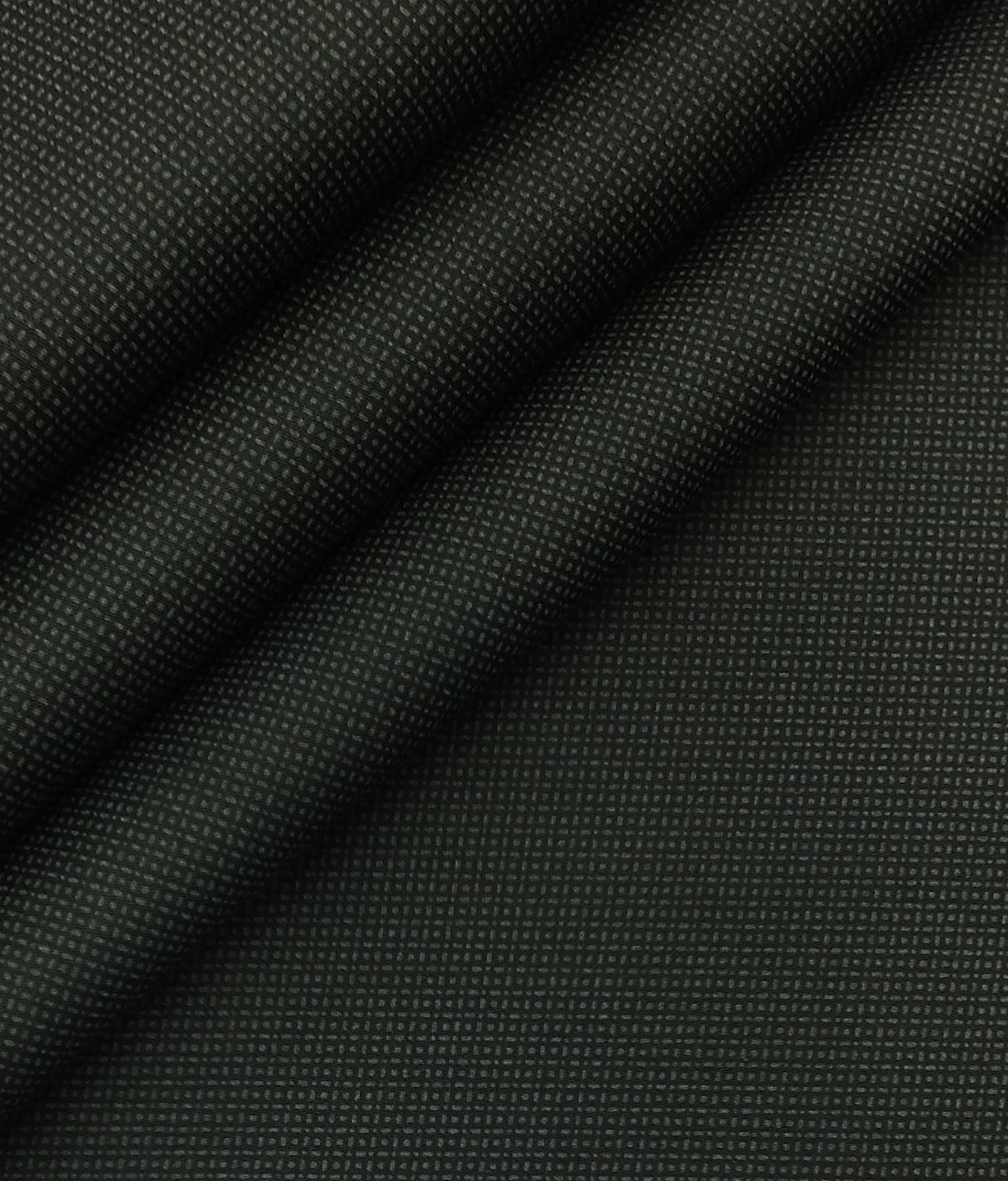 Saville & Young (S&Y) Greyish Black 100% Giza Cotton Dots Printed Trouser Fabric (Unstitched - 1.30 Mtr)