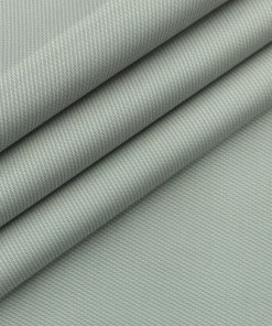 Saville & Young (S&Y) Light Grey 100% Giza Cotton Structured Print Trouser Fabric (Unstitched - 1.30 Mtr)