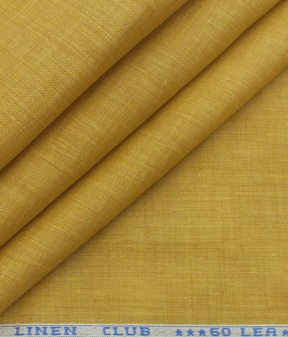 Linen Club Butterscotch Beige 100% Pure Linen 60 LEA Self Design Shirt Fabric (1.60 M)
