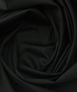Ankur by Arvind Jet Black Solid Cotton Lycra Stretchable Trouser Fabric (Unstitched - 1.40 Mtr)