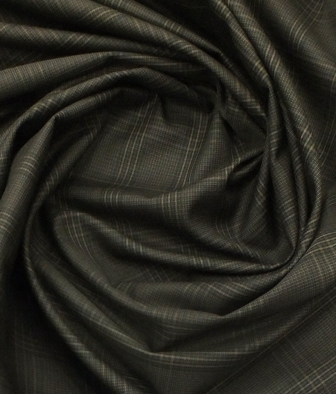 Cadini by Siyaram's Dark Brown Checks 100% Supima Cotton Trouser Fabric (Unstitched - 1.30 Mtr)