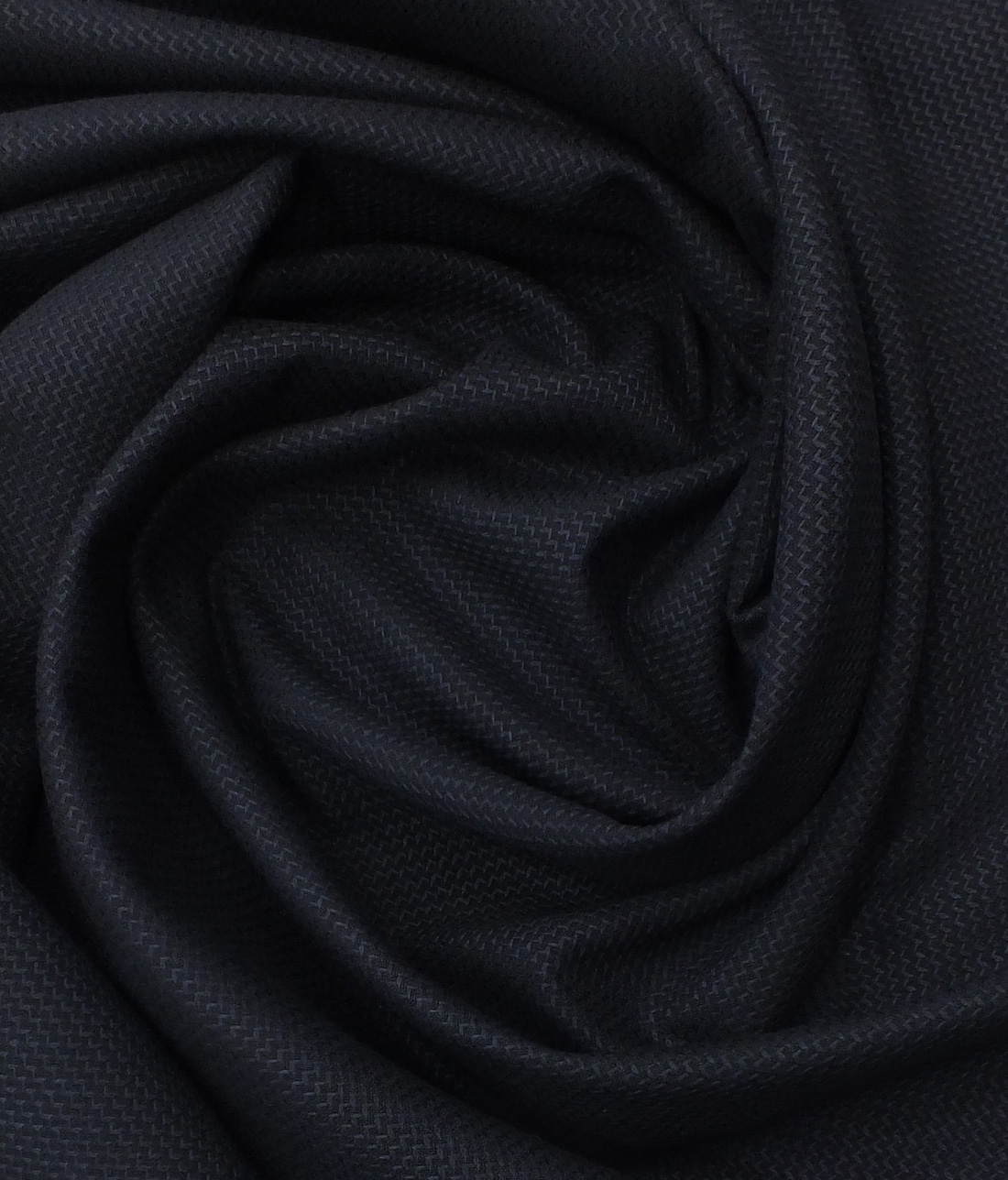 Mark & Peanni Dark Royal Blue Structured Weave Terry Rayon Premium Three Piece Suit Fabric (Unstitched - 3.75 Mtr)