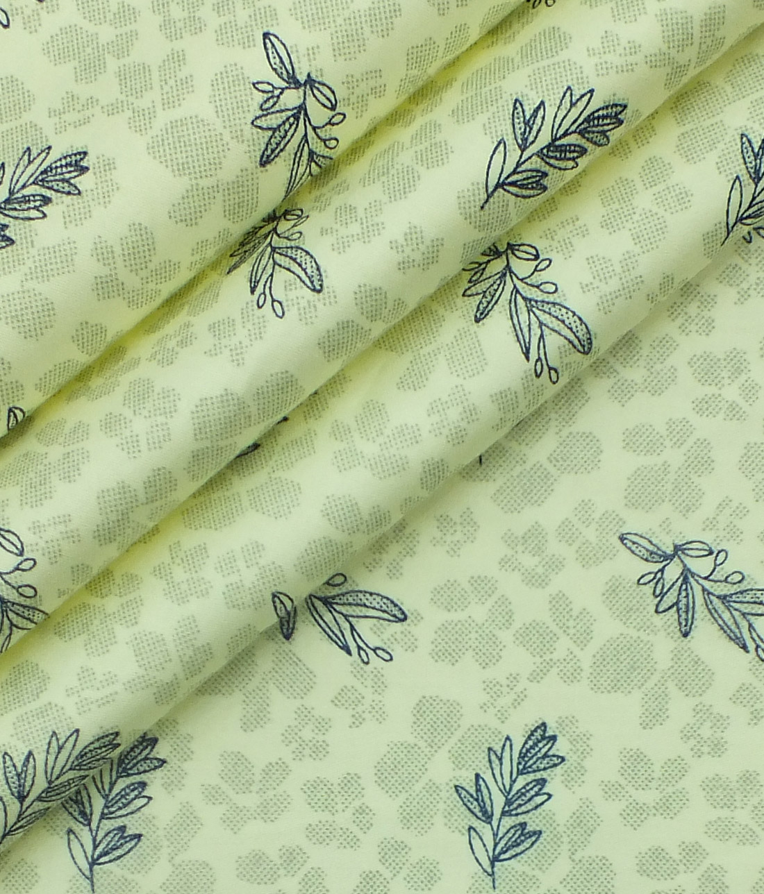 Reid & Taylor Blackish Sea Green Checks Trouser Fabric With Exquisite Light Yellow Printed Shirt Fabric (Unstitched)