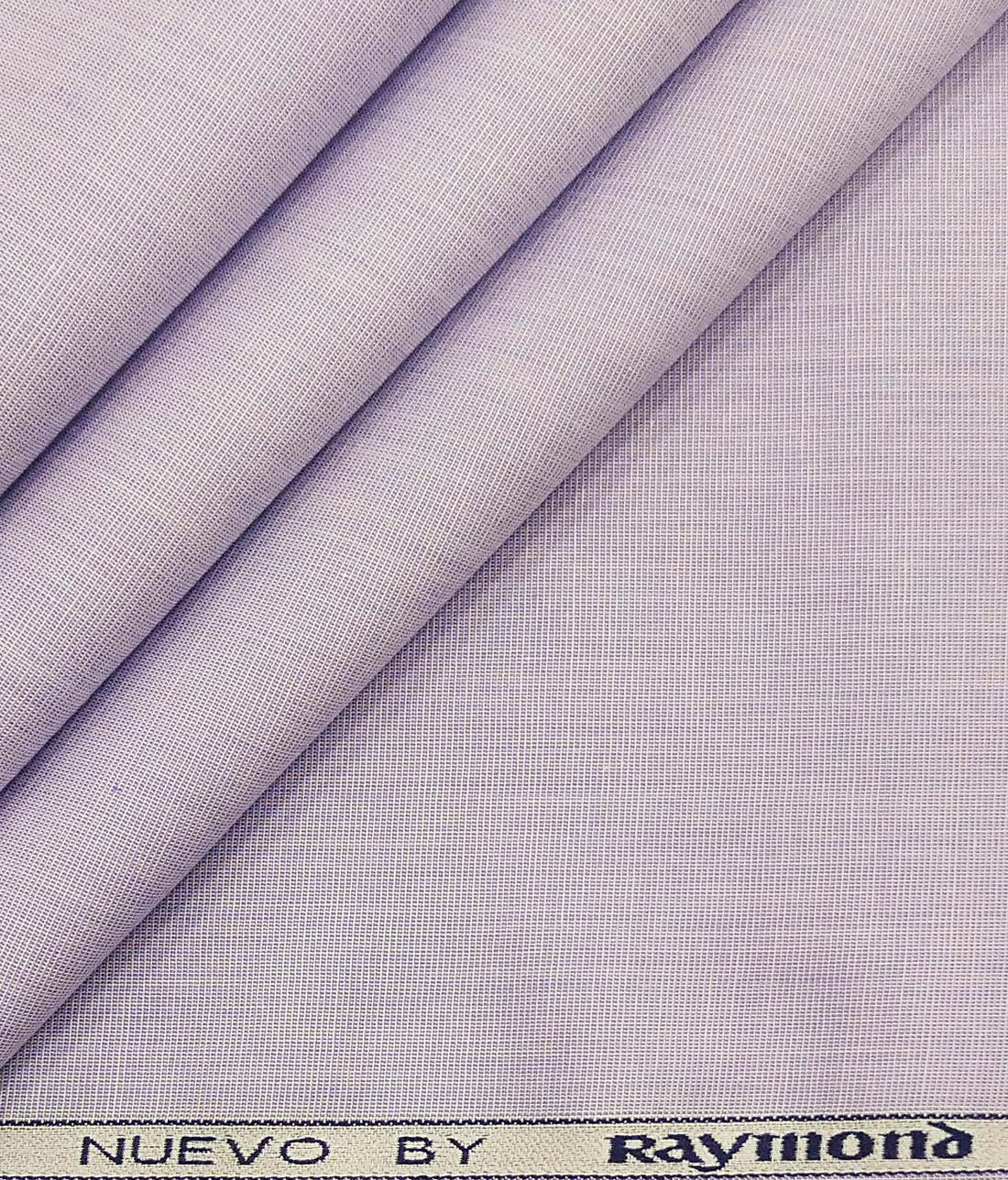 Raymond Heather Purple 100% Premium Cotton End to End Weave Shirt Fabric (1.60 M)
