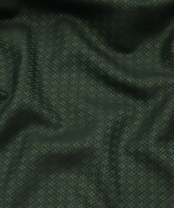 Absoluto Dark Green Jacquard Unstitched Terry Rayon Bandhgala or Blazer Fabric