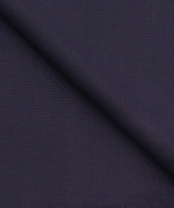 Augustus Dark Purple Structured Unstitched Terry Rayon Suiting Fabric