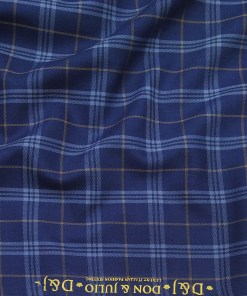 Don & Julio Blue Broad Checks Unstitched Thick Terry Rayon Blazer Fabric