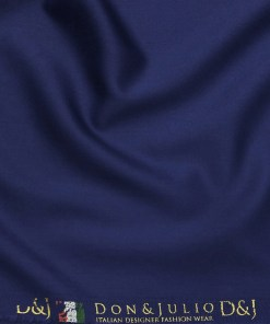 Don & Julio Royal Blue Solid Satin Weave Terry Rayon Suiting Fabric