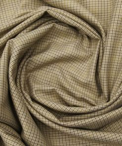 Absoluto Men's Terry Rayon Unstitched Checks Suiting Fabric (Beige)