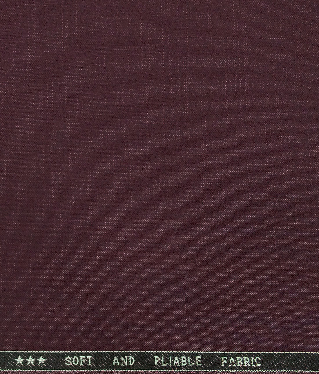 Raymond Men's Poly Viscose Unstitched Self Design Suiting Fabric (Plum Purple)