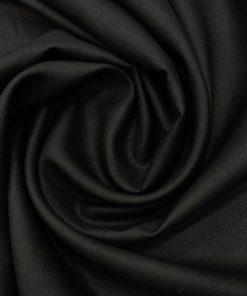 Burgoyne Men's Linen Solid 3.50 Meter Unstitched Shirting Fabric (Black)