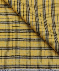 Raymond Men's Linen Checks 2 Meter Blazer Fabric (Yellow)