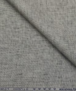Raymond Men's Linen Structured 3 Meter Unstitched Suiting Fabric (Light Grey)