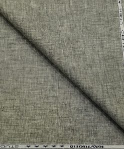 Raymond Men's Linen Self Design 3 Meter Unstitched Suiting Fabric (Pistachious Grey)