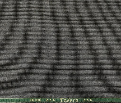 Raymond Men's Poly Viscose Unstitched Structured Suiting Fabric (Dark Grey)