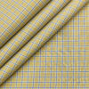 Birla Century Men's Cotton Checks 1.60 Meter Unstitched Shirt Fabric (Beigish Yellow)
