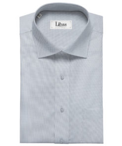 Exquisite Men's Cotton Checks Unstitched Shirting Fabric (Sky Blue)