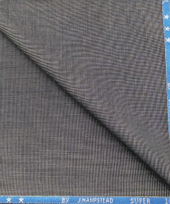 J.Hampstead Men's Wool Structured Super 90's 1.25 Meter Unstitched Suiting Fabric (Light Grey)