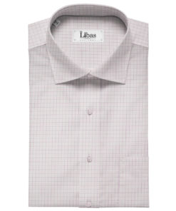Arvind Men's Cotton Checks Unstitched Shirting Fabric (White)