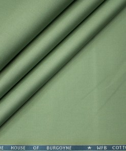 Burgoyne Men's Cotton Solids  Unstitched Trouser Fabric (Sage Green)