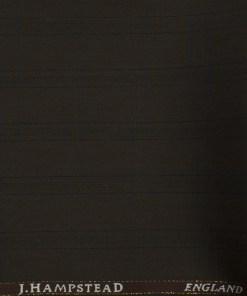 J.Hampstead Men's Wool Checks Super 100's 1.30 Meter Unstitched Trouser Fabric (Dark Brown)