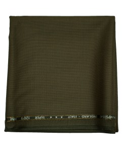 J.Hampstead Men's Wool Checks Super 120's 1.30 Meter Unstitched Trouser Fabric (Coffee Brown)