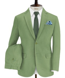 Absoluto Men's Terry Rayon Solids 3.75 Meter Unstitched Suiting Fabric (Light Green)
