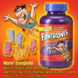 Flintstones-Vitamins-toxic-chemicals-gmo-corn