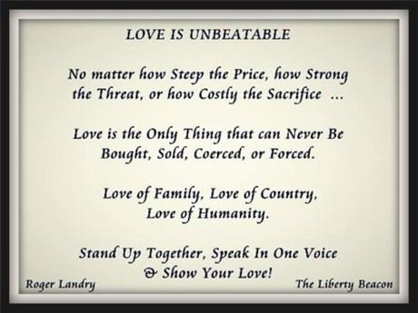 Love is unbeatable
