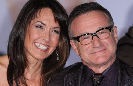 robin w with wife