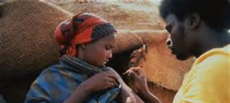Vaccines African woman
