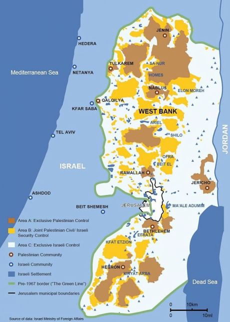 West bank map