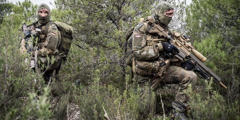 German Mountain Infantry training