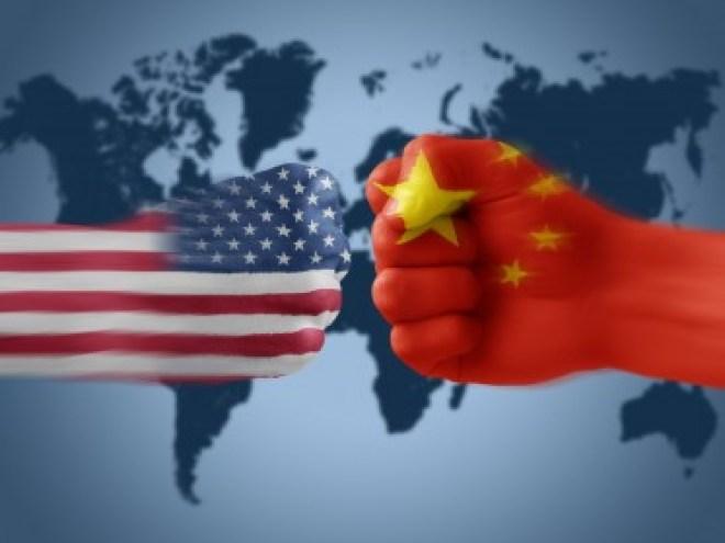 USA fist China