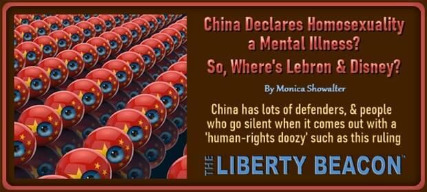 China Declares Homosexuality a Mental Illness – So Where is Lebron & Disney – FI 03 03 21-min