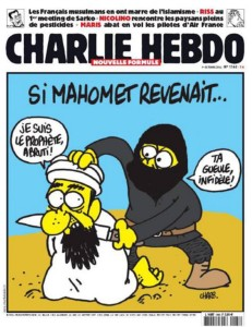 """A Charlie Hebdo cover: """"If Muhammad returned."""""""