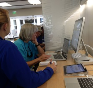older person at apple