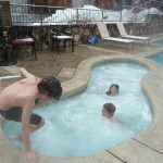 The Osprey Hot Tub in the winter