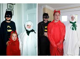 three men in halloween