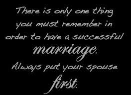 Put wife first