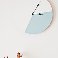 DIY colour block clock