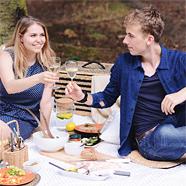 Do a date geweldige luxe picknick