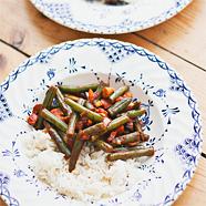 Recept sperziebonen met paprika en kip