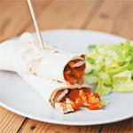 Recept sweet spicy chicken wraps