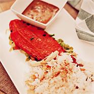 Recept: puntpaprika met wok en chilisaus