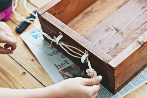 DIY: houten plantenbak