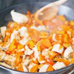 Recept- sweet & spicy chicken wraps