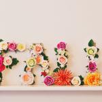 DIY bloemenletters