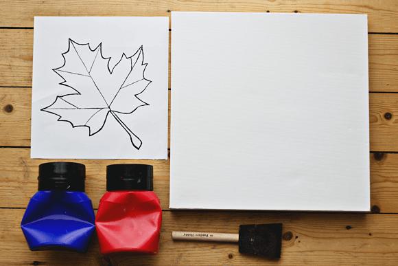 DIY herfst schilderij